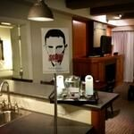 and inside of hotel rooms