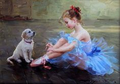 Little Ballerina Girl Painting All the girls