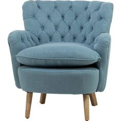Marley Tufted Armchair in Blue