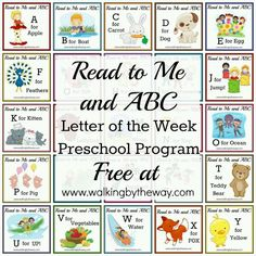 Free letter of week curr