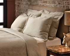 BedWorks Uptown Matelassé Duvet Cover BedWorks available at Denver Mattress.