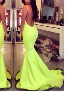 Sexy Open Back Prom Dresses Evening Gowns Halter Sleeveless Mermaid Slit Yellow Special occasion Dress Vestido De Festa on Chiq  $138.00 http://www.chiq.com/sexy-open-back-prom-dresses-evening-gowns-halter-sleeveless-mermaid-slit-yellow-special-occasion-dr