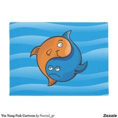 Yin Yang Fish Cartoon Doormat