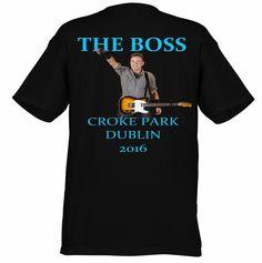 Bruce Springsteen Croke Park Dublin 2016 Tee Back