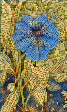 mosaic flower by Photoartistic26.deviantart.com on @DeviantArt