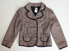 GYMBOREE Houndstooth Jacket 5 Girls Coat #Gymboree #BasicCoat #houndstooth