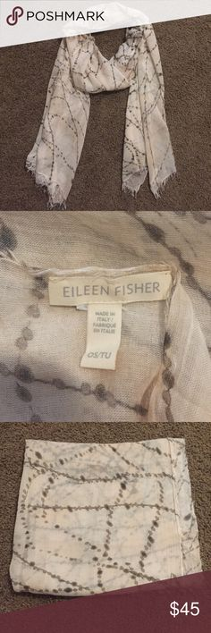 • Eileen Fisher • Eileen Fisher Scarf. Light weight material. Blush color with olive green designs. Color palette great for every season. Only worn once. Eileen Fisher Accessories Scarves & Wraps