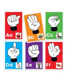 Take a look at this Alphabet Signs, Letters & Sounds Card Set today!