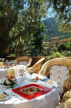 Today, we went to The El Olivo Terrace | La Residencia Hotel | Mallorca, Spain for lunch. Ole!.....................