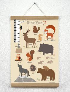 Poster - vierundfuenfzig illustration