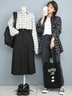 Korean Outfit Street Styles, Korean Street Fashion, Korea Fashion, Korean Outfits, Asian Fashion, Daily Fashion, Teen Fashion Outfits, Kpop Outfits, Edgy Outfits