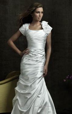 Slim Satin Dress by Allure Bridals M454