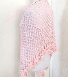 Crochet Flower Scarf, Lace Scarf, Crochet Lace, Bridal Shawl, Wedding Shawl, Bridal Lace, Pink Shawl, Crochet Wedding, Crochet Girls