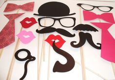 Wedding Photobooth Props  Photo Props  Wedding by IttyBittyWedding, $21.95
