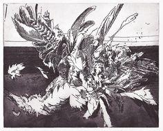 Dead Bird Etching and aquatint, 25 x 20 cm.
