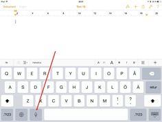 Använda Siri för att prata in sin text, men ändå få den skriven.
