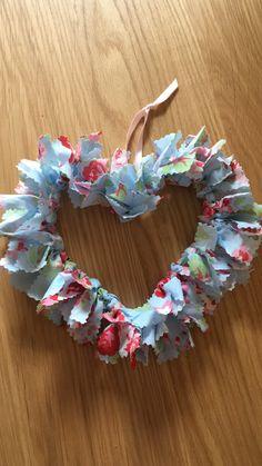 Cath Kidston heart rag wreath