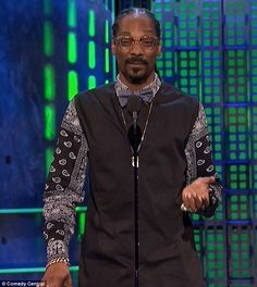 He's funny: Snoop went off script for a bit and cracked a good Tinder joke