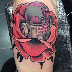 Funny R2-D2 tattoo. #tattoo #tattoos #ink