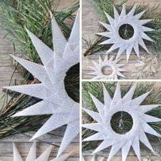 Diese Origamisterne sind kinderleicht gefaltet und eine wunderschöne Weihnachtsdeko für euer Zuhause. Wie ihr mit wenig Geld diese zauberhaften Sterne macht, erfahrt ihr auf craftyneighbpoursclub.com Weihnachtsstern falten DIY