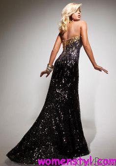 backless Black Prom dresses