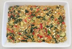Ready to bake.... vegetable and quinoa slice!