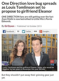 This is so stupid. Im sure that only even surfaced because of Larry marriage rumors. One Direction News, One Direction Zayn Malik, One Direction Harry Styles, One Direction Imagines, Girlfriend Proposal, Little Mix Perrie Edwards, Eleanor Calder, Cher Lloyd, Irish Boys