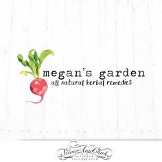 Hand Drawn Logo Design - Customizable - Food Blog - Seed Packet - Garden - Radishes