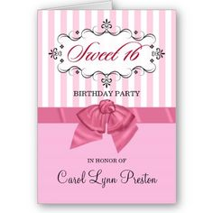 Sweet 16th Birthday Card 16 Handmade Embossed Pink And Green
