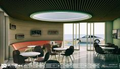 benzinarie concept 1 interior 10 Conference Room, Concept, Architecture, Interior, Table, Furniture, Design, Home Decor, Homemade Home Decor