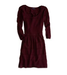 maroon sweater dress, I would definitely wear this with boots during fall