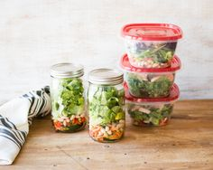 Make an entire week's worth of healthy, filling make-ahead salads for lunch in just 30 minutes. Plus, 5 satisfying recipes to get you started!
