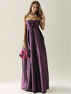Empire Strapless Floor-length Taffeta Bridesmaid/ Wedding Pa... – CAD $ 113.75