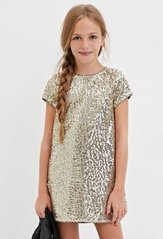 Girls Sequin Shift Dress (Kids) | Forever 21 girls - 2000164669