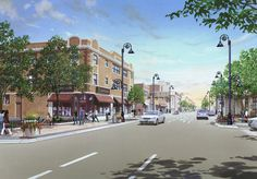 Roosevelt Road Streetscape Improvement - original rendering.