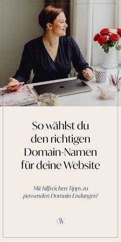 Inspiration für deinen Domainnamen: So findest du den richtigen Namen bzw. die passende Domain für deine Website! Mit Tipps und Tricks für die Wahl der Domainendungen (.de oder .com?), des Hosters bzw. Hosting-Anbieters und zur strategischen Auswahl: Welche Namen du für eine Internetseite besser nicht wählst! Der Domain Guide hilft dir bei der Planung deines Online Business!