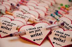 Bits of Everything's Just Write valentines are perfect for school! What teacher wouldn't want to see more writing utensils in the classroom? Source: Bits of Everything