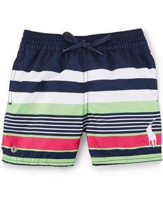 7b85cbbada Ralph Lauren Baby Boys' Striped Swim Trunks & Reviews - Swimwear - Kids -  Macy's