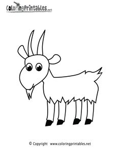 Goat Coloring Page Printable Animal Coloring Pages Fnaf Coloring Pages, Animal Coloring Pages, Printable Coloring Pages, Coloring Books, Colouring, Free Coloring, Coloring Pages For Kids, Goat Art, Printable Animals