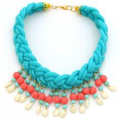 Collar Trenza Corto. www.dulceecanto.com - Tienda online de accesorios para mujer