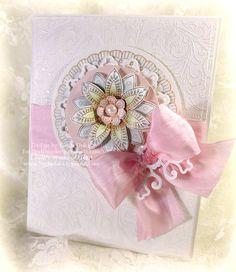 card using Scrolled Vine BG and Kaleidoscope Medallions designed by Linda Duke