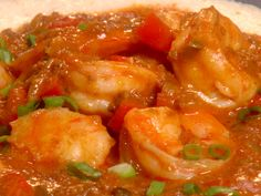 Mexican Shrimp and Grits recipe  via Food Network