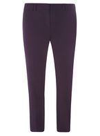 Womens Blackcurrant Ankle Grazer Trousers- Purple
