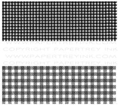Background Basics: Gingham Stamp Set: Papertreyink