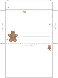 Gingerbread envelope