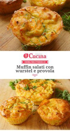 #Muffin salati con #wurstel e #provola
