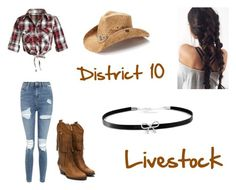 """District 10 (hunger games)"" by leenybean1509 ❤ liked on Polyvore featuring Topshop, Peter Grimm and Giani Bernini"
