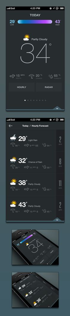 Weather app concept by Ben Cline