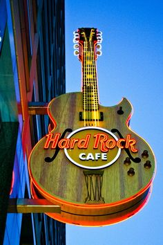 Hard Rock Cafe Detroit's guitar sign. #icon #hardrock
