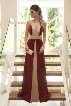 vestido de festa longo